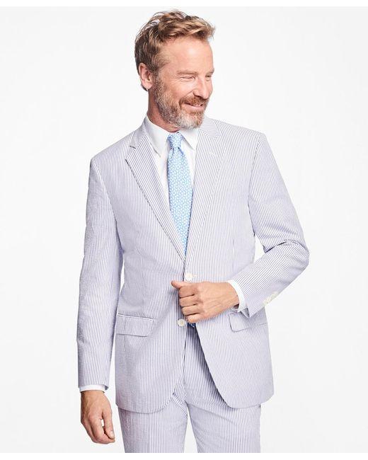 Brooks Brothers | Blue Madison Fit Stripe Seersucker Suit for Men | Lyst