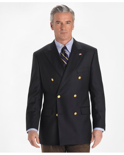 Brooks Brothers | Blue Country Club Saxxon Wool Double-breasted Blazer for Men | Lyst