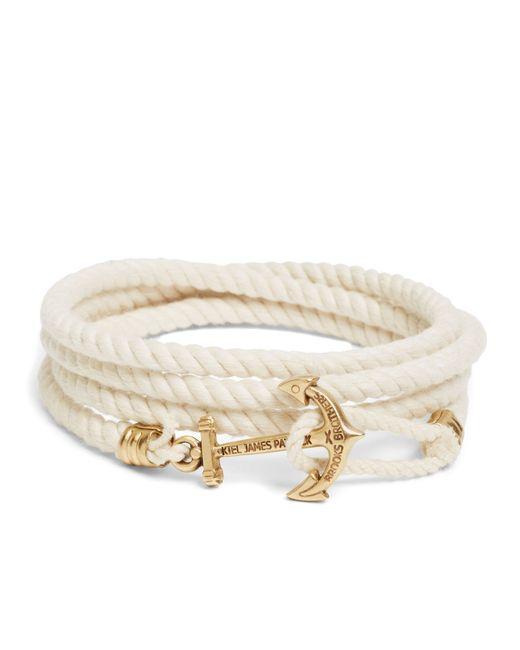 Brooks Brothers | Natural Kiel James Patrick Lanyard Hitch Cord Bracelet for Men | Lyst