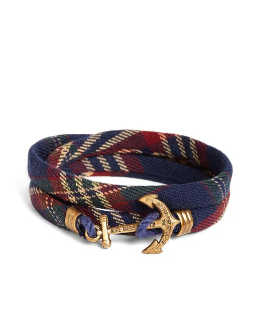 Brooks Brothers | Blue Kiel James Patrick Signature Tartan Wrap Bracelet for Men | Lyst