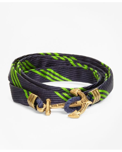 Brooks Brothers | Green Wrap Bracelet By Kiel James Patrick for Men | Lyst