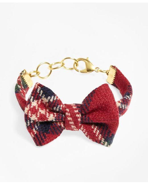 Brooks Brothers | Red Kiel James Patrick Tartan Bow Tie Bracelet | Lyst