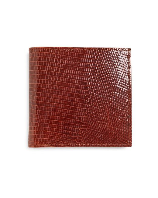 Brooks Brothers | Brown Lizard Euro Wallet for Men | Lyst