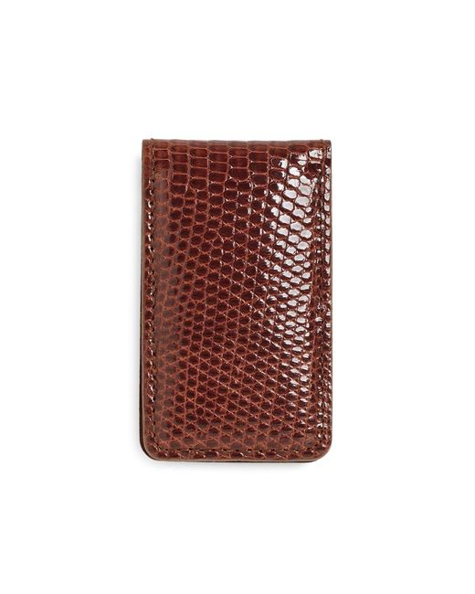 Brooks Brothers | Brown Lizard Money Clip for Men | Lyst