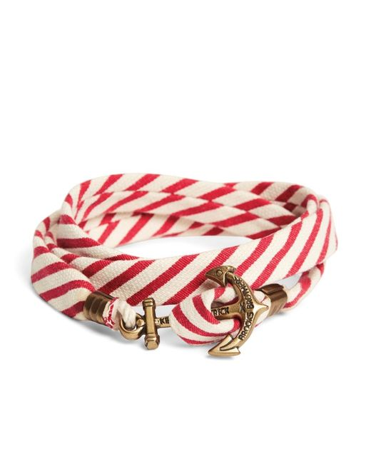 Brooks Brothers | Kiel James Patrick Red And White Seersucker Lanyard Hitch Cord Bracelet for Men | Lyst