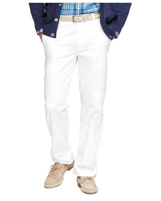 Brooks Brothers | White Clark Fit Garment-dyed Chinos for Men | Lyst