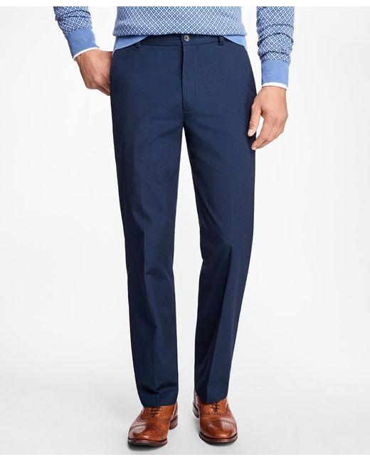 Brooks Brothers | Blue Clark Fit Supima® Cotton Poplin Pants for Men | Lyst