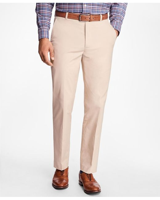Brooks Brothers   Natural Clark Fit Supima® Cotton Poplin Pants for Men   Lyst