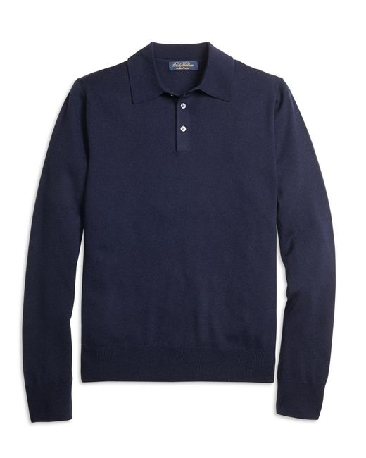 Brooks Brothers | Blue Saxxon Wool Polo for Men | Lyst