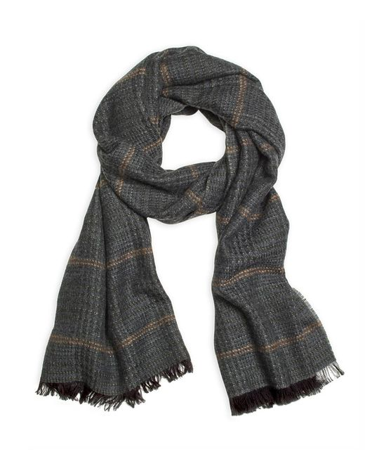 Brooks Brothers | Green Tweed Print Scarf for Men | Lyst