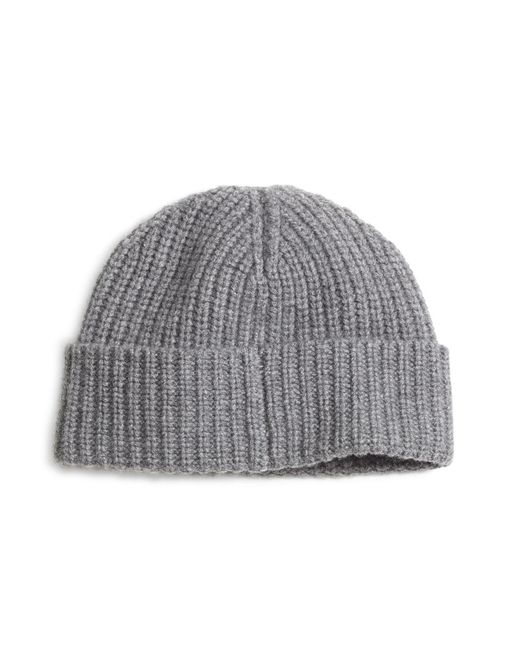 Brooks Brothers | Gray Ribbed Cashmere Hat for Men | Lyst