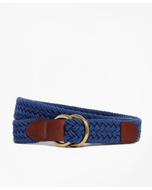 Brooks Brothers | Blue Cotton Braided Belt for Men | Lyst