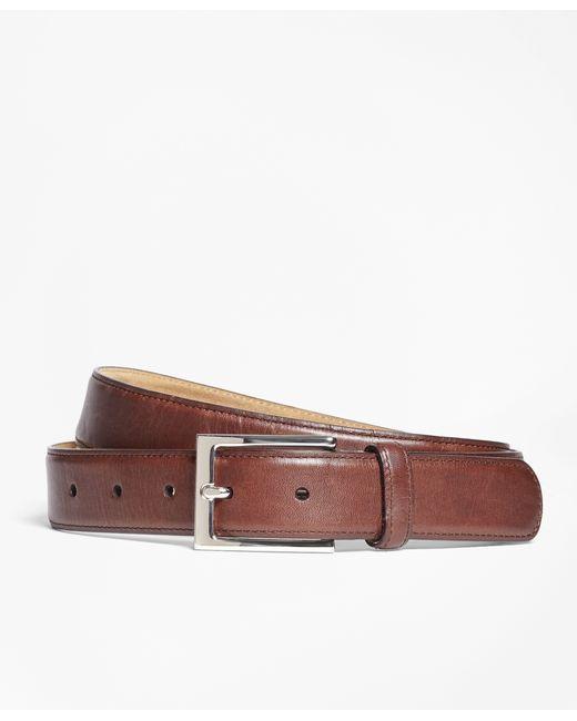 Brooks Brothers   Brown Soft Leather Dress Belt for Men   Lyst