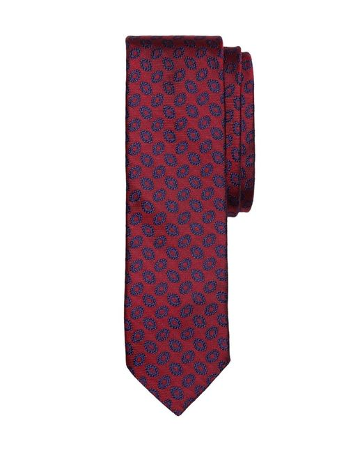 Brooks Brothers | Red Fancy Oval Slim Tie for Men | Lyst