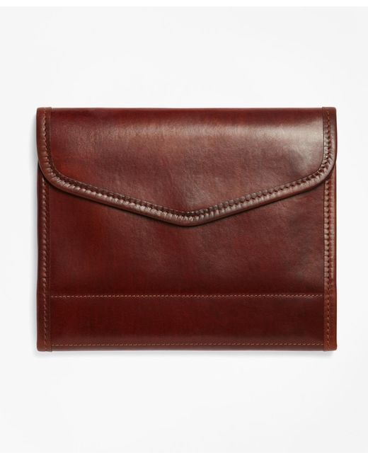 Brooks Brothers | Brown J.w. Hulme Leather Tablet And And Notebook Case | Lyst