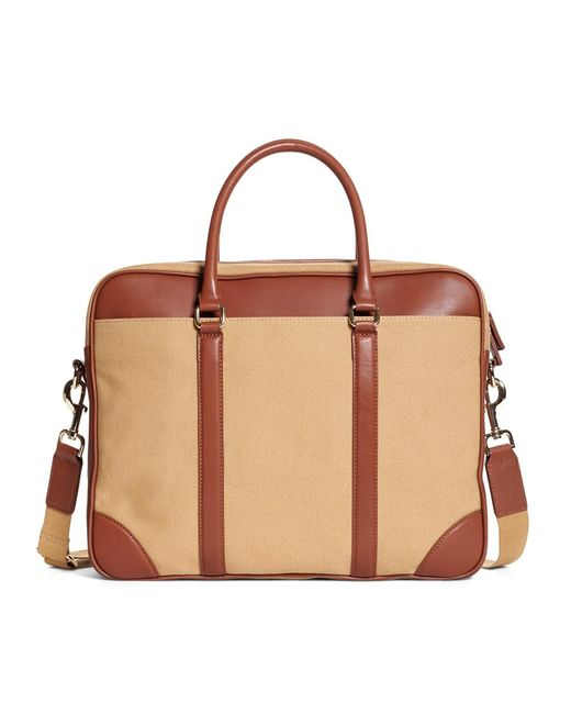 Brooks Brothers | Natural Canvas Soft Briefcase for Men | Lyst