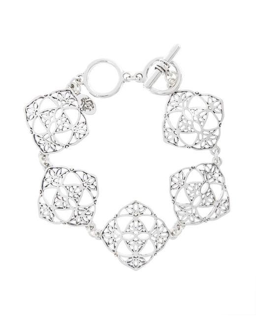 Brooks Brothers   Metallic Silver Filigree Drop Bracelet   Lyst