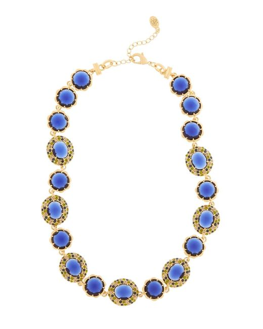 Brooks Brothers | Blue Crystal Stone Illusion Necklace | Lyst
