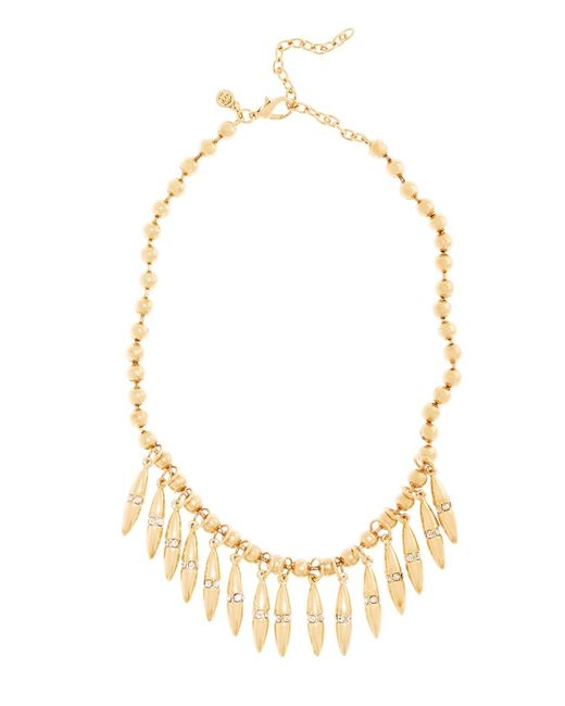 Brooks Brothers | Metallic Bullet Shaped Charm Drop Necklace | Lyst
