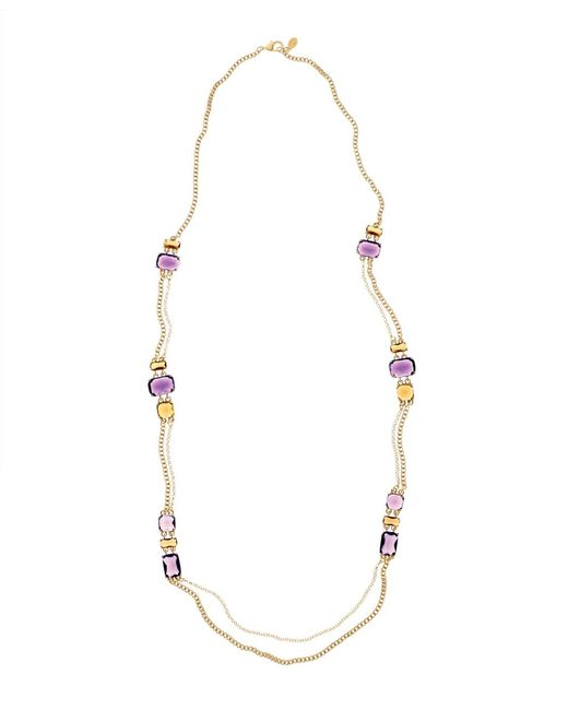 Brooks Brothers | Metallic Amethyst Topaz Illusion Necklace | Lyst