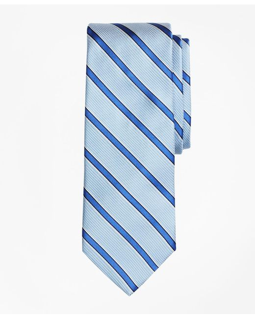 Brooks Brothers - Blue Textured Ground Framed Stripe Tie for Men - Lyst