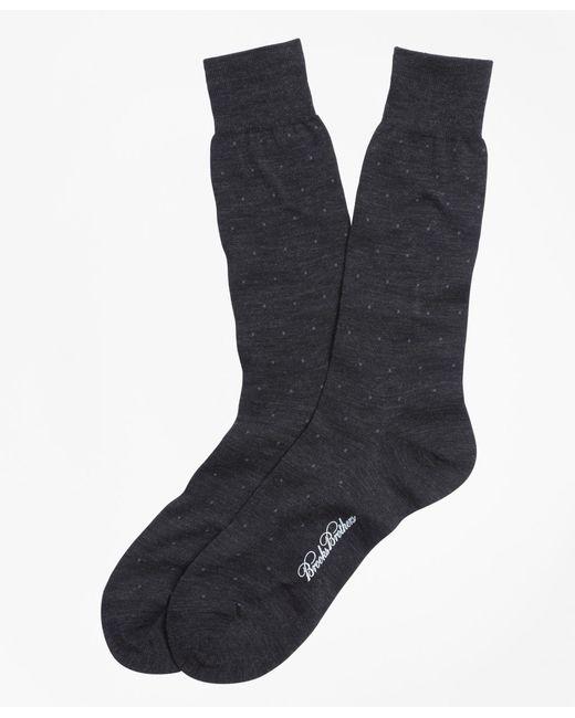 Brooks Brothers - Gray Merino Wool Big Dot Crew Socks for Men - Lyst
