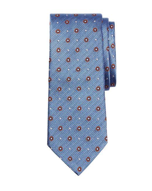 Brooks Brothers   Blue Herringbone Circle Tie for Men   Lyst