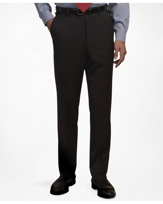 Brooks Brothers - Black Plain-front Suiting Essential Trousers for Men - Lyst