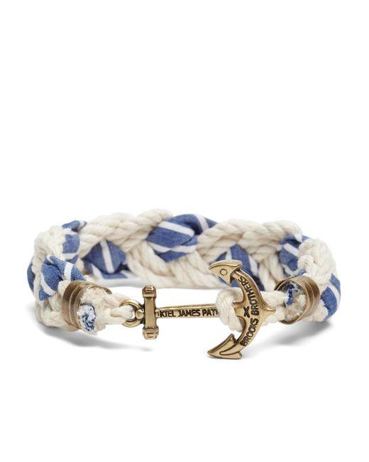 Brooks Brothers - Blue Kiel James Patrick Seersucker Stripe Braided Bracelet for Men - Lyst