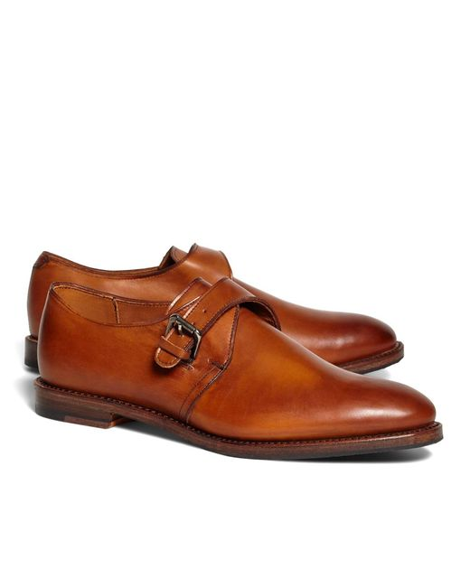 Brooks Brothers | Brown Monk Straps for Men | Lyst