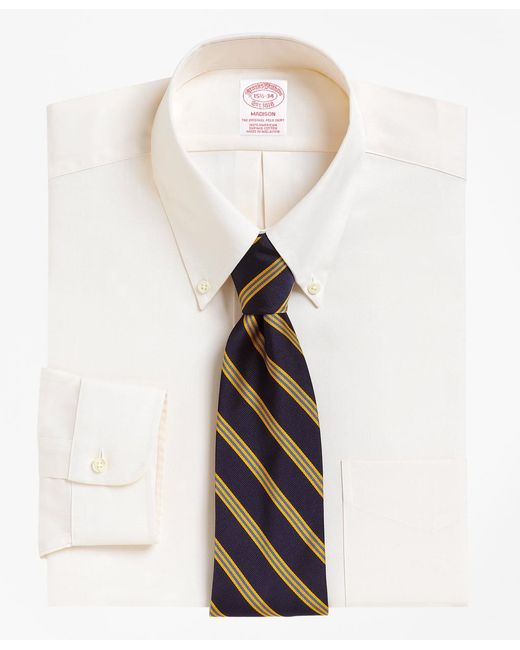 Brooks Brothers - Natural Madison Fit Button-down Collar Dress Shirt for Men - Lyst