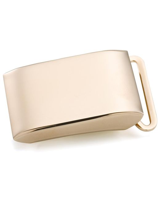 Brooks Brothers - Metallic Gold Plated Sterling Plain Plaque Buckle for Men - Lyst