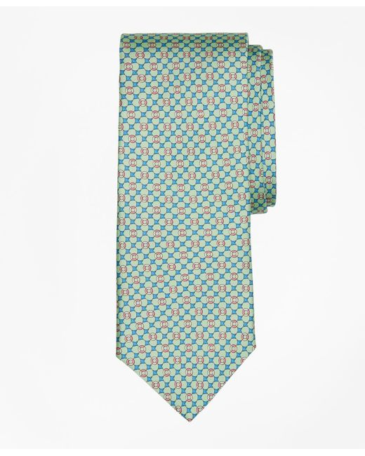 Brooks Brothers - Green Flag And Raft Print Tie for Men - Lyst