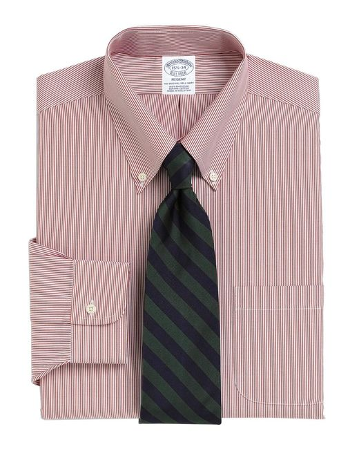 Brooks Brothers - Red Madison Fit Stripe Dress Shirt for Men - Lyst