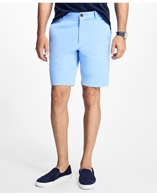 Brooks Brothers - Blue Stretch Cotton Twill Shorts for Men - Lyst