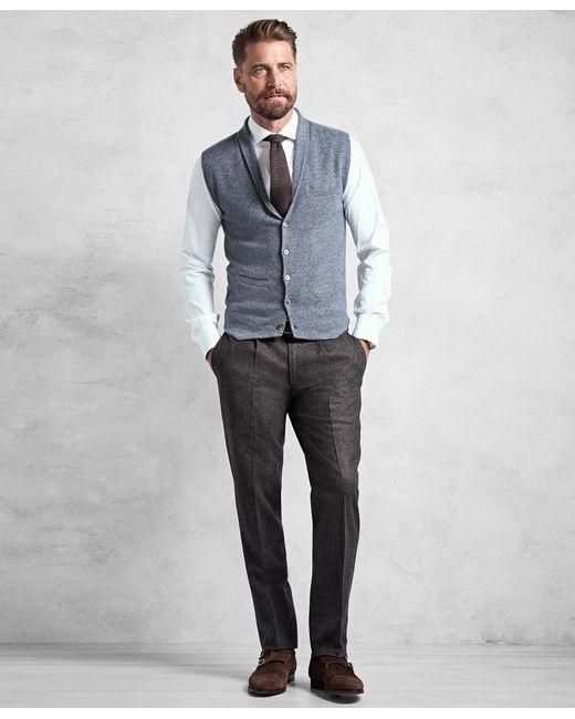Brooks brothers Golden Fleece® 3-d Knit Cashmere Shawl Collar ...