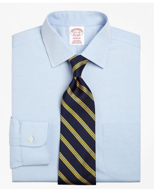 Brooks Brothers - Blue Non-iron Madison Fit Spread Collar Dress Shirt for Men - Lyst