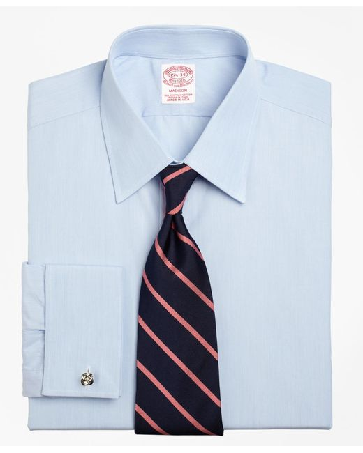 Brooks brothers madison fit tennis collar french cuff for French collar dress shirt