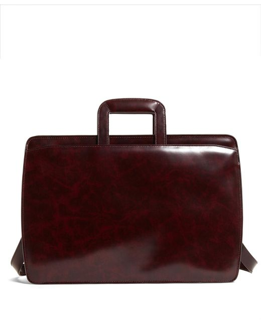 Brooks Brothers - Red Slide Handle Leather Briefcase for Men - Lyst