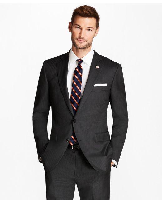 Brooks Brothers - Gray Regent Fit Grey Herringbone 1818 Suit for Men - Lyst