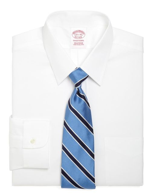 Brooks Brothers - White Traditional Fit Forward Point Collar Dress Shirt for Men - Lyst