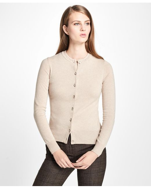 Brooks Brothers - Multicolor Long-sleeve Cashmere Cardigan - Lyst