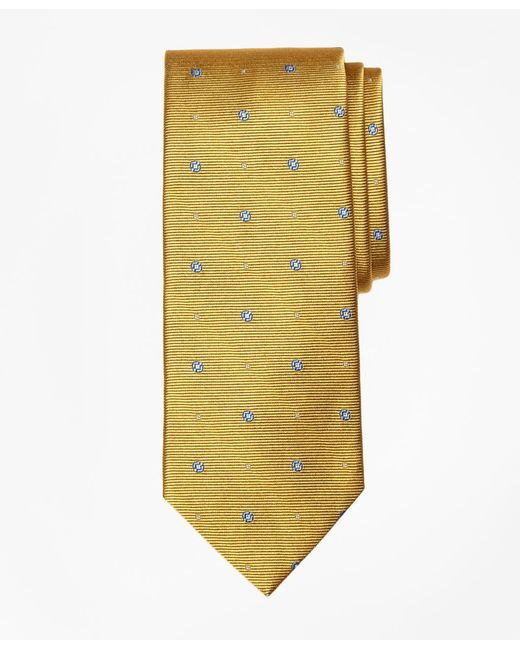 Brooks Brothers | Yellow Spaced Circle And Square Tie for Men | Lyst