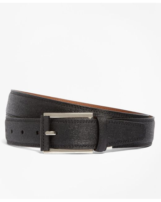 Brooks Brothers | Black Saffiano Leather Belt for Men | Lyst