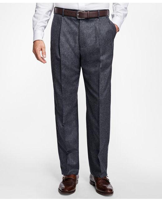 Brooks Brothers - Gray Madison Fit Pleat-front Stretch Flannel Trousers for Men - Lyst
