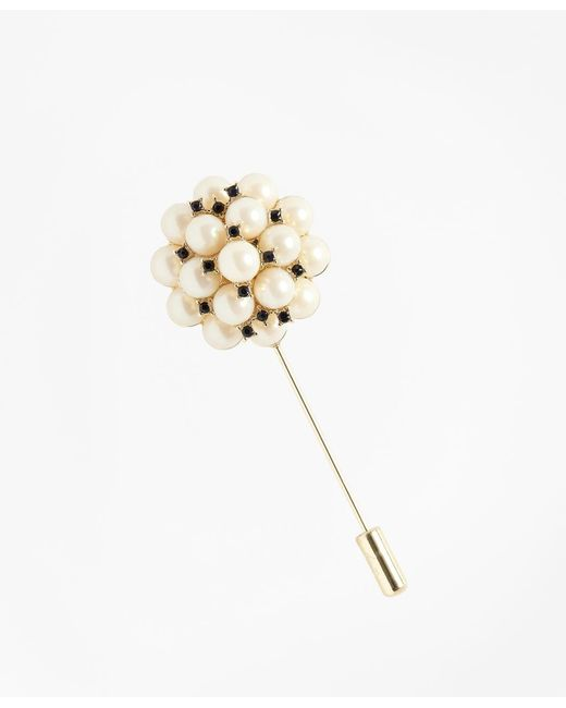 Brooks Brothers | White Glass Pearl Brooch | Lyst