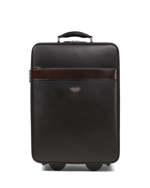 Brooks Brothers - Brown Small Leather Trolley for Men - Lyst