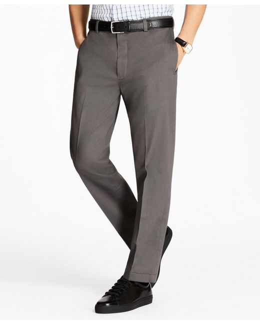 Brooks Brothers - Gray Clark Fit Stretch Advantage Chinos® for Men - Lyst