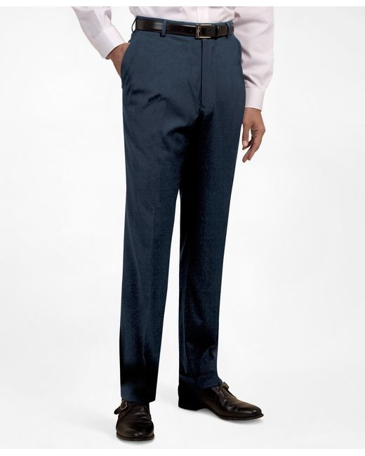 Brooks Brothers - Blue Plain-front Suiting Essential Trousers for Men - Lyst