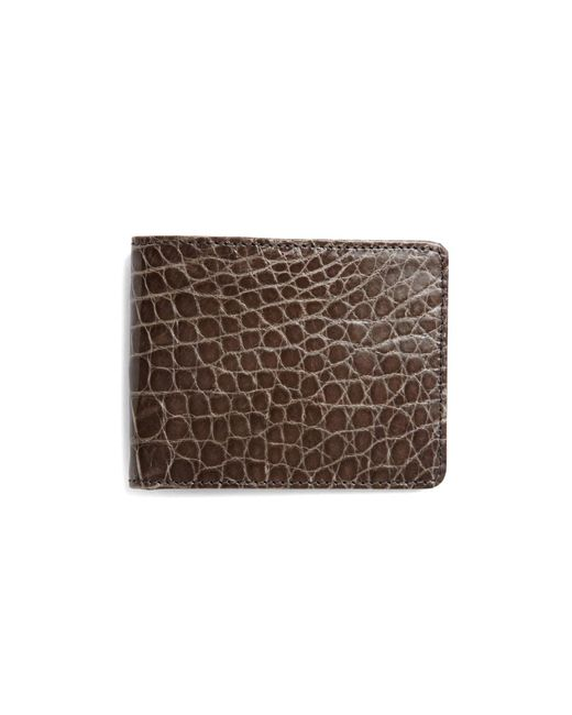 Brooks Brothers | Gray Slim Alligator Wallet for Men | Lyst
